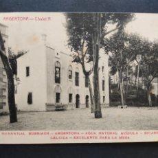 Postales: POSTAL BARCELONA BALNEARIO ARGENTONA MANANTIAL BURRIACH. Lote 71846654