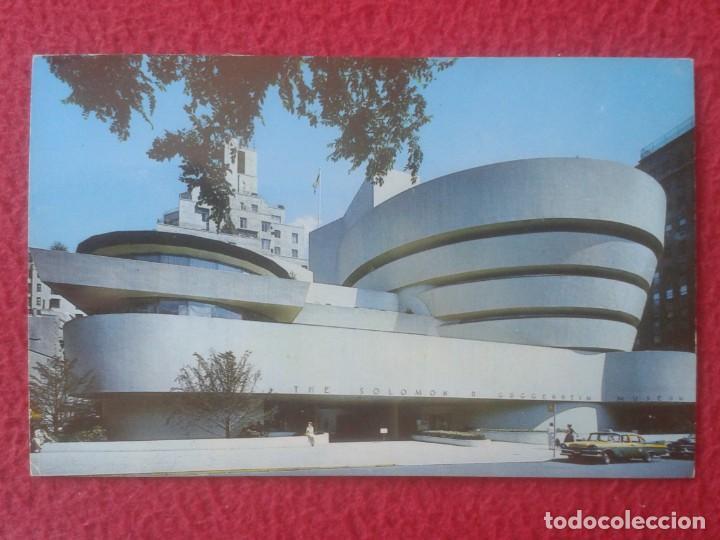 POST CARD ESTADOS UNIDOS NEW NUEVA YORK USA MUSEO MUSEUM GUGGENHEIM TAXI DE ÉPOCA..UNITED STATES.... (Postales - Postales Temáticas - Hoteles y Balnearios)