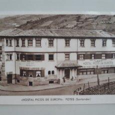 Postales: TARJETA POSTAL HOSTAL PICOS DE EUROPA POTES SANTANDER CANTABRIA HUECOGRABADO RIEUSSET. Lote 276905898