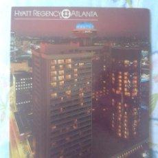 Postales: POST CARD CARTE POSTALE HYATT REGENCY ATLANTA GEORGIA IN PEACHTREE CENTER USA ESTADOS UNIDOS EEUU. Lote 277116088
