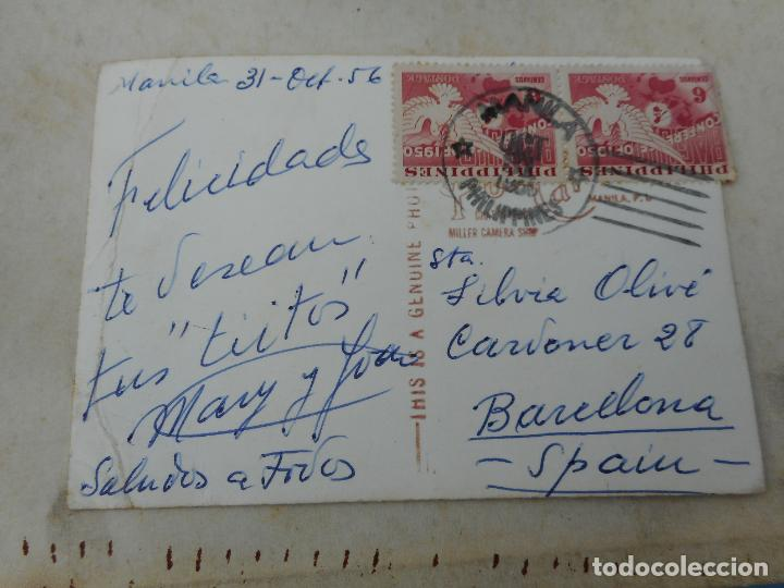 Postales: ANTIGUA POSTAL FOTOGRAFICA.THE MANILA HOTEL.PHILIPPINES.FILIPINAS 1956 - Foto 3 - 277514103