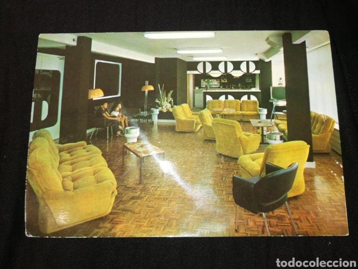 ARANDA DE DUERO, TARJETA POSTAL HOSTAL JULIA, AÑOS 60,MUEBLES RETRO. (Postales - Postales Temáticas - Hoteles y Balnearios)