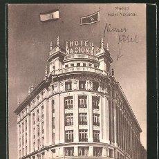 Postales: MADRID HOTEL NACIONAL. Lote 277591313