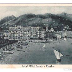 Postales: RAPALLO (ITALIA) - GRAN HOTEL SAVOIA - SIN CIRCULAR. Lote 277637118