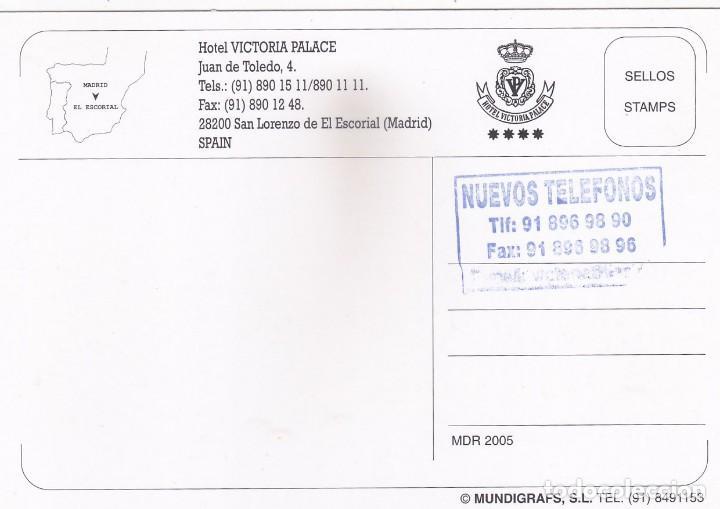Postales: HOTEL VICTORIA PALACE. SAN LORENZO DEL ESCORIAL. MADRID (2005) - Foto 2 - 278519268