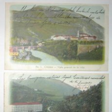 Postales: DOS POSTALES DE CESTONA DE 1905. NÚMEROS 1 Y 2. CIRCULADAS Y SIN DIVIDIR.. Lote 284713498