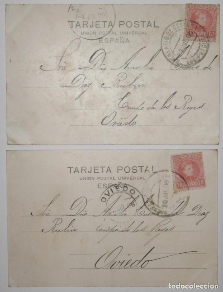 Postales: DOS POSTALES DE CESTONA. H. Y M. GUIBERT. CIRCULADAS Y SIN DIVIDIR. 1906. - Foto 2 - 285298438