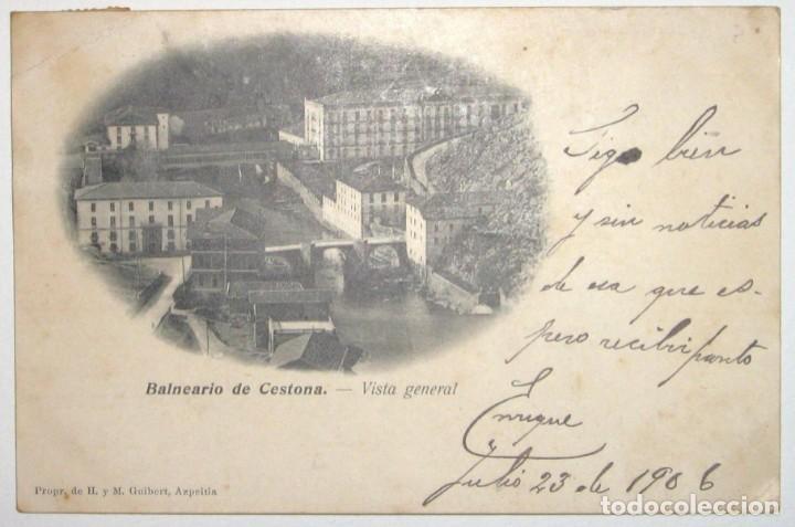 Postales: DOS POSTALES DE CESTONA. H. Y M. GUIBERT. CIRCULADAS Y SIN DIVIDIR. 1906. - Foto 4 - 285298438