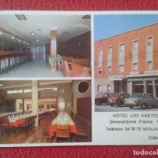 Postales: POST CARD CARTE POSTALE TARJETA TIPO POSTAL PUBLICIDAD HOTEL LOS ABETOS MIAJADAS CÁCERES EXTREMADURA. Lote 285527443