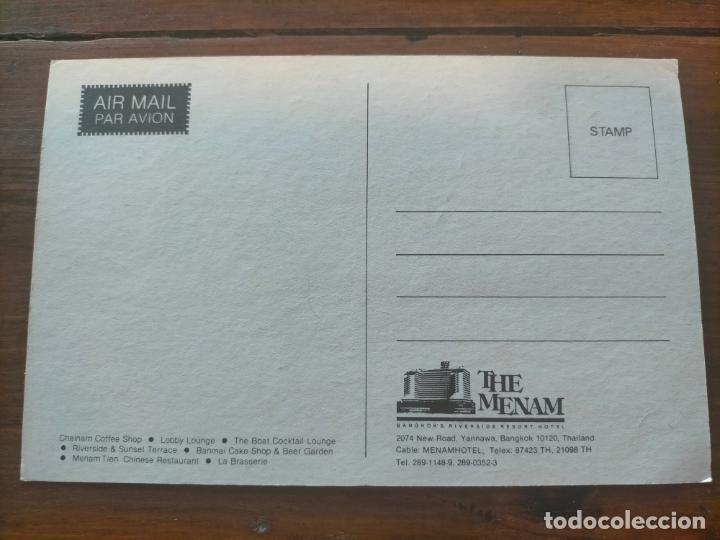 Postales: BANGKOKS 727-ROOM RIVERSIDE RESORT THAILAND TAILANDIA HOTEL POST CARD - Foto 2 - 286322053