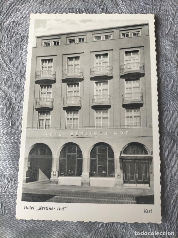 HOTEL BERLINER HOF - KIEL ALEMANIA GERMANY POSTCARD (Postales - Postales Temáticas - Hoteles y Balnearios)