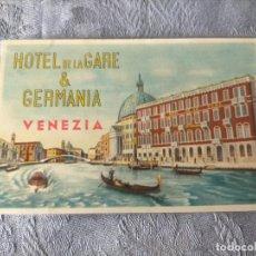 Postales: HOTEL DE LA GARE & GERMANIA VENEZIA POSTCARD. Lote 286686748