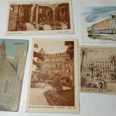 Postales: ORIGINAL NO COPIA.LOTE COLECCIÓN DE POSTALES POSTAL HOTEL-HOTELES VARIOS. Lote 289435588