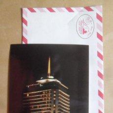 Postales: POSTAL - PUBLICITARIA CON SOBRE CORREO AEREO SIN USAR - HOTEL DUSIT THANI - BANGKOK, TAILANDIA. Lote 292529203