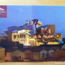 Postales: POSTAL HOTEL BODEGA MARQUÉS DE RISCAL - ELCIEGO, ALAVA 2008 FRANK GERY CIRCULADA. Lote 293611138