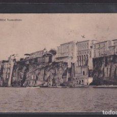 Postales: ITALIA - SORRENTO (NÁPOLES) - HOTEL TRAMONTANO. (CAMPANIA, ITALIA) 1913. Lote 293746963
