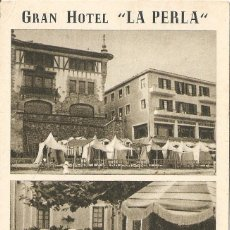 "Postales: GUIPÚZCOA - ZARAUZ - GRAN HOTEL ""LA PERLA"". Lote 294379318"