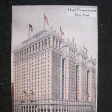Postales: NEW YORK-HOTEL PENNSYLVANIA-POSTAL ANTIGUA-(85.217). Lote 295532838