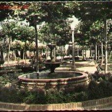 Postales: SANTO DOMINGO DE LA CAZADA Nº 20. POSTAL ANTIGUA. JARDINES BEATO HERMOSILLA. ED. GARCIA GARABELLA. Lote 24544359