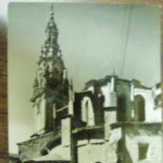 Postales: SANTO DOMINGO DE LA CALZADA. (LA RIOJA). TORRE Y ÁBSIDE DE LA CATEDRAL. Lote 27332985