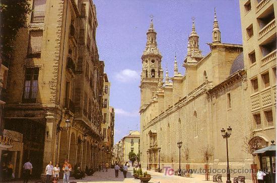 ESPAÑA. T. P. LOGROÑO. CALLE PORTALES. EDITA LUIS CARCAMO. SIN CIRCULAR. MAGNÍFICA. (Postales - España - La Rioja Moderna (desde 1.940))