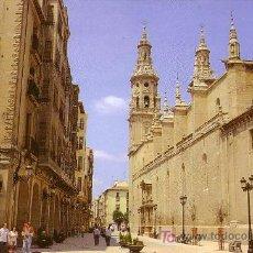 Postales: ESPAÑA. T. P. LOGROÑO. CALLE PORTALES. EDITA LUIS CARCAMO. SIN CIRCULAR. MAGNÍFICA.. Lote 26384549