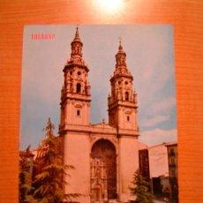 Postales: POSTAL LOGROÑO TORRES DE LA CATEDRAL REDONDA CIRCULADA. Lote 8347185