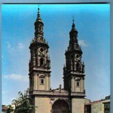 Postales: CATEDRALES DE ESPAÑA. Nº 10 LOGROÑO . EDICIONES VISTABELLA - MADRID . PUBLICIDAD EN REVERSO. Lote 8934271