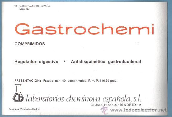 Postales: CATEDRALES DE ESPAÑA. Nº 10 LOGROÑO . EDICIONES VISTABELLA - MADRID . PUBLICIDAD EN REVERSO - Foto 2 - 8934271