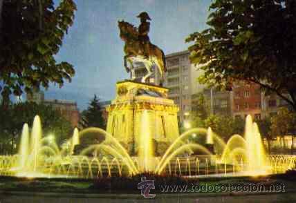 LOGROÑO - ESTATUA DEL GENERAL ESPARTERO (NOCTURNA) (Postales - España - La Rioja Moderna (desde 1.940))