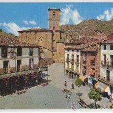 Postales: TARJETA POSTAL DE NAJERA PLAZA DE ESPAÑA SANTA MARIA LA REAL LA RIOJA FALANGE YUGO Y FLECHAS. Lote 13501645