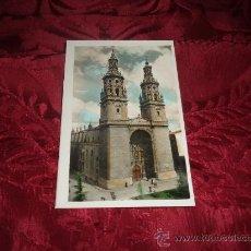 Postales: LOGROÑO TORRES GEMELAS DE LA COLEGIATA,EDICIONES ARRIBAS. Lote 14305215