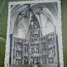 Postales: EZCARAY. Nª 18 ALTAR MAYOR DE LA PARROQUIA. ED. M. ARRIBAS. CIRCULADA 1956. Lote 20459216