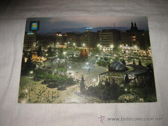 Nº 4 LOGROÑO PASEO DEL ESPOLON CIRCULADA EDICIONES DOMINGUEZ (Postales - España - La Rioja Moderna (desde 1.940))