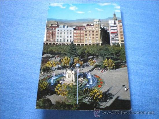 POSTAL LOGROÑO ESPOLON MONUMENTO A ESPARTERO CIRCULADA (Postales - España - La Rioja Moderna (desde 1.940))