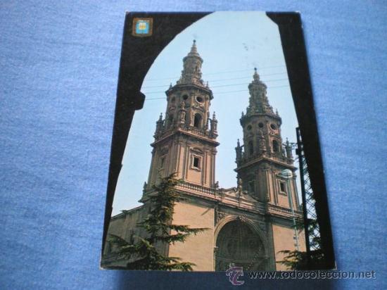 POSTAL LOGROÑO TORRES GEMELAS DE LA CATEDRAL CIRCULADA (Postales - España - La Rioja Moderna (desde 1.940))