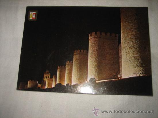 Nº 19 AVILA MURALLAS VISTA NOCTURNA EDICIONES DOMINGUEZ (Postales - España - La Rioja Moderna (desde 1.940))