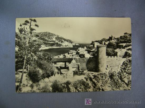POSTAL DE TOSSA DEL MAR. CALA EL CODOLAR Y MURALLAS.- COSTA BRAVA (Postales - España - La Rioja Moderna (desde 1.940))