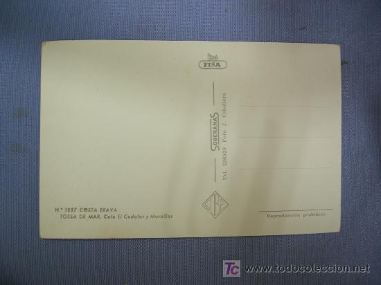 Postales: postal de tossa del mar. cala el codolar y murallas.- costa brava - Foto 2 - 27413797