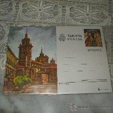 Postales: TARJETA POSTAL DE LOGROÑO IGLESIA DE SAN BARTOLOME, SELLO IMPRESO DE 5 PESETAS. Lote 21651788