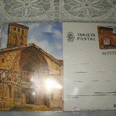 Postales: TARJETA POSTAL DE LOGROÑO IGLESIA DE SAN BARTOLOME ,CON SELLO IMPRESO DE 5 PESETAS. Lote 18788955