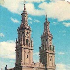 Postales: LOGROÑO - TORRES GEMELAS DE LA CATEDRAL (DEFECTUOSA: RASPADURA EN EL ANGULO INFERIOR IZQUIERDO). Lote 20028542