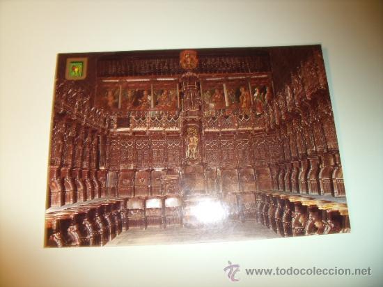 POSTAL DE NÁJERA, LOGROÑO, SANTA MARÍA LA REAL, EL CORO SIN CIRCULAR. POSTAL 386 (Postales - España - La Rioja Moderna (desde 1.940))