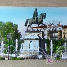 Postales: FOTO, POSTAL, LOGROÑO, Nº 36, ESTATUA GENERAL ESPATERO, PARIS J. M., 23.5X9.5 CM. BANCO DE VIZCAYA. Lote 21258041