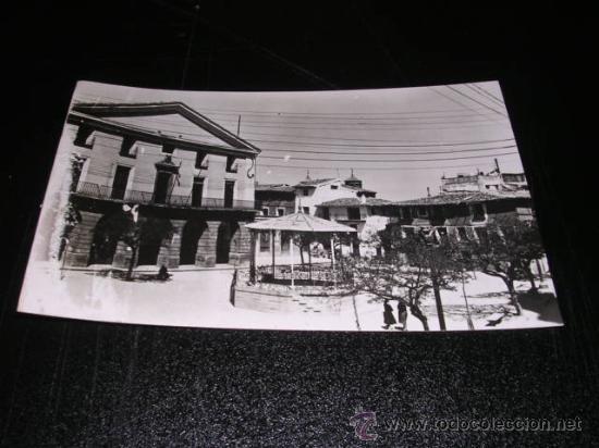 ALFARO LOGROÑO, PLAZA DE ESPAÑA,FOT. CASA FIGUEROLA, 14X9 CM. (Postales - España - La Rioja Moderna (desde 1.940))