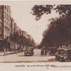 Postales: LOGROÑO MURO DE FRANCISCO DE LA MATA,EDICIONES M ARRIBAS. Lote 24322268
