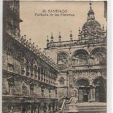 Postales: POSTAL SANTIAGO DE COMPOSTELA. 28.- FACHADA DE LAS PLATERÍAS.. Lote 27139970
