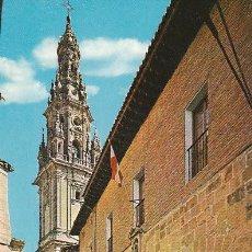 Postales: SANTO DOMINGO DE LA CALZADA, PARADOR NACIONAL Y TORRE DE LA CATEDRAL. Lote 26130208
