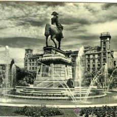 Postales: POSTAL LOGROÑO PASEO DEL ESPOLON ESTATUA GENERAL ESPARTERO Y FUENTE. Lote 27050856