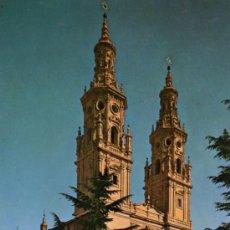 Postales: CATEDRAL DE SANTA MARÍA DE LA REDONDA LOGROÑO ESCRITA CIRCULADA CON SELLOS FOTO PAYÁ. Lote 27065918